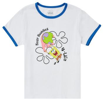 Textil Rapariga T-Shirt mangas curtas Vans VANS X SPONGEBOB BEST BUDDIES RINGER Branco
