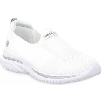 Sapatos Mulher Slip on Dockers 591 TEXTILE SILVER Grigio