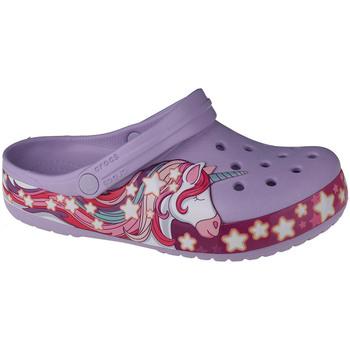 Sapatos Criança Tamancos Crocs Fun Lab Unicorn Band Clog Violet