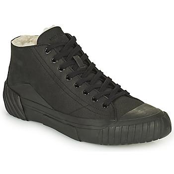 Sapatos Homem Sapatilhas de cano-alto Kenzo TIGER CREST SHEARLING SNEAKERS Preto