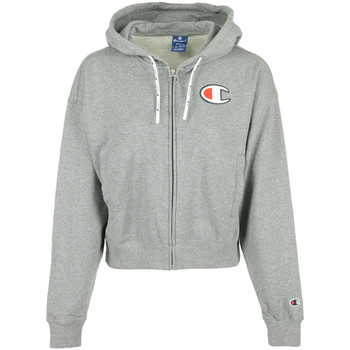 Textil Mulher Sweats Champion Hooded Full Zip Wn's Cinza