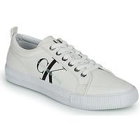 Sapatos Mulher Sapatilhas Calvin Klein Jeans VULCANIZED LACEUP SNEAKER Branco
