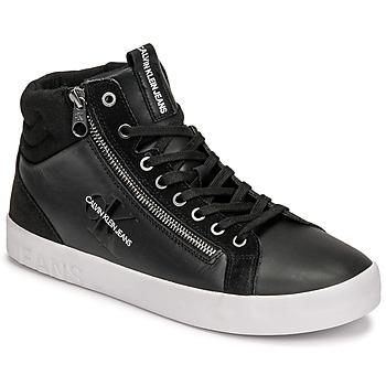 Sapatos Homem Sapatilhas de cano-alto Calvin Klein Jeans VULCANIZED MID LACEUP Preto