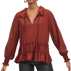 Textil Mulher camisas Vila  Vermelho