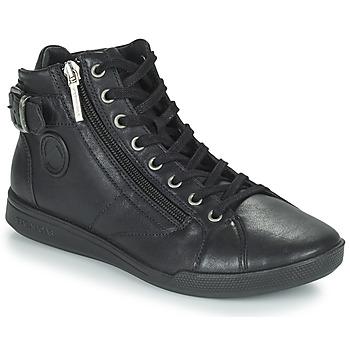 Sapatos Mulher Sapatilhas de cano-alto Pataugas PALME Preto