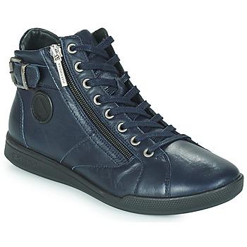 Sapatos Mulher Sapatilhas de cano-alto Pataugas PALME Marinho
