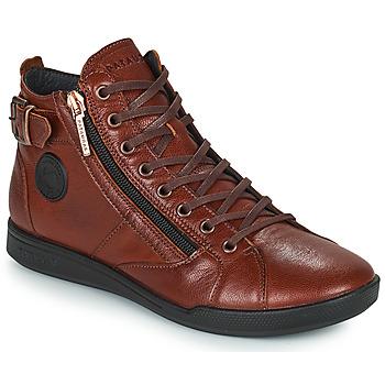 Sapatos Mulher Sapatilhas de cano-alto Pataugas PALME Castanha