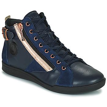 Sapatos Mulher Sapatilhas de cano-alto Pataugas PALME Marinho / Rosa