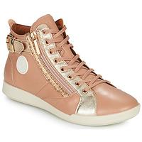 Sapatos Mulher Sapatilhas de cano-alto Pataugas PALME Bege / Bege / marinho