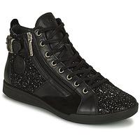 Sapatos Mulher Sapatilhas de cano-alto Pataugas PALME Preto / Glitter