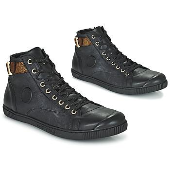 Sapatos Mulher Sapatilhas de cano-alto Pataugas LATSA Preto / Ouro
