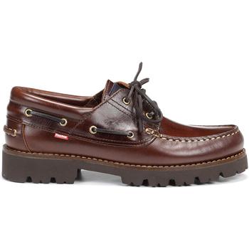 Sapatos Homem Sapato de vela Fluchos F0046 RICHFIELD PULL CASTANHA