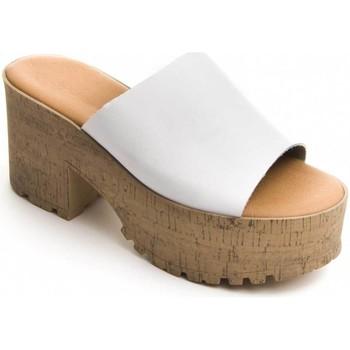 Sapatos Mulher Chinelos Purapiel 71174 WHITE