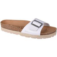 Sapatos Mulher Chinelos Geographical Norway Sandalias Bios Pala Hebilla Blanc