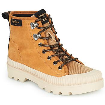 Sapatos Mulher Sapatilhas de cano-alto Pepe jeans ASCOT DESERT Camel