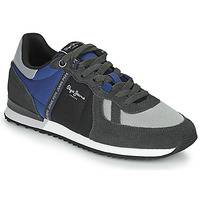 Sapatos Homem Sapatilhas Pepe jeans TINKER ZERO TAPE Cinza / Azul