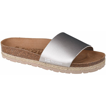 Sapatos Mulher Chinelos Geographical Norway Sandalias Baja Verano Argent