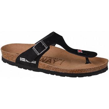 Sapatos Mulher Chinelos Geographical Norway Sandalias Esclavas Bios Noir