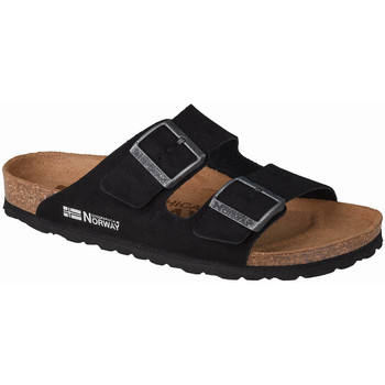 Sapatos Mulher Chinelos Geographical Norway Sandalias Bios Doble Hebilla Noir