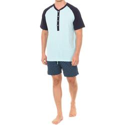 Textil Homem Pijamas / Camisas de dormir J And J Brothers Pijama Manga Corta J&J Brothers Multicolor