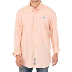 Textil Homem Camisas mangas comprida La Martina Camisa manga larga Rosa