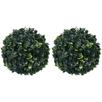 Casa Plantas e Flores Artificiais  VidaXL Bola de buxo artificial 22 cm Verde