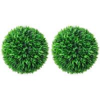 Casa Plantas e Flores Artificiais  VidaXL Bola de buxo artificial 47 cm Verde