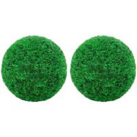 Casa Plantas e Flores Artificiais  VidaXL Bola de buxo artificial 45 cm Verde