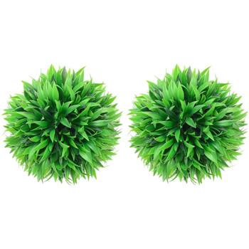 Casa Plantas e Flores Artificiais  VidaXL Bola de buxo artificial 20 cm Verde