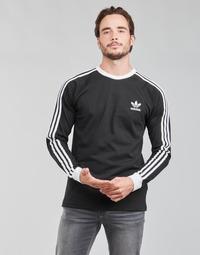 Textil Homem T-shirt mangas compridas adidas Originals 3-STRIPES LS T Preto