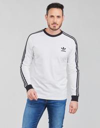 Textil Homem T-shirt mangas compridas adidas Originals 3-STRIPES LS T Branco