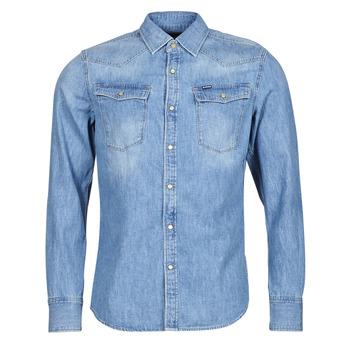 Textil Homem Camisas mangas comprida G-Star Raw 3301 SLIM SHIRT LS Azul