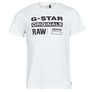 Textil Homem T-Shirt mangas curtas G-Star Raw GRAPHIC 8 R T SS Branco