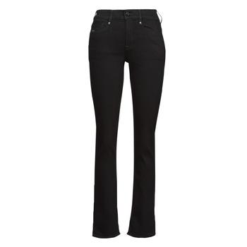 Textil Mulher Calças Jeans G-Star Raw NOXER STRAIGHT Preto