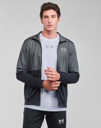 Textil Homem Sweats Under Armour UA PIQUE TRACK JACKET Cinza / Branco