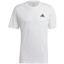 Textil Homem T-Shirt mangas curtas adidas Originals Essentials Embroidered Small Logo Tee Branco