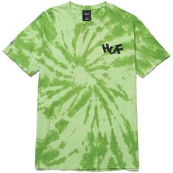 Textil Homem T-shirts e Pólos Huf T-shirt haze brush tie dye ss Verde