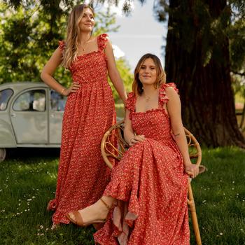 Textil Mulher Vestidos compridos Céleste AURORE Vermelho