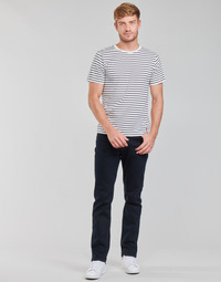 Textil Homem Calças Jeans Lee BROOKLYN STRAIGHT Azul / Preto