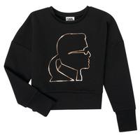 Textil Rapariga Sweats Karl Lagerfeld CORNALINE Preto