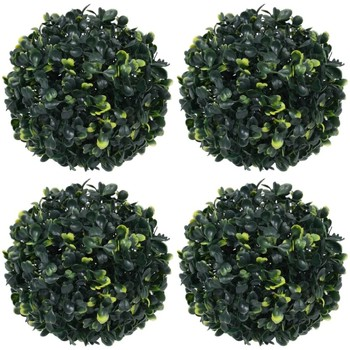 Casa Plantas e Flores Artificiais  VidaXL Bola de buxo artificial 12 cm Verde