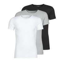 Textil Homem T-Shirt mangas curtas Tommy Hilfiger STRETCH TEE X3 Branco / Cinza / Preto