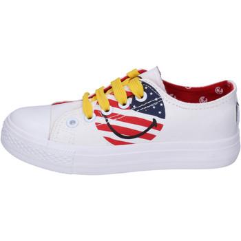 Sapatos Rapaz Sapatilhas Smiley BJ988 Branco