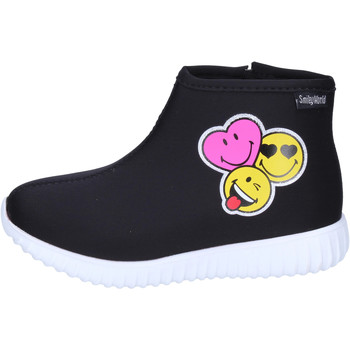 Sapatos Rapariga Botins Smiley BJ989 Preto