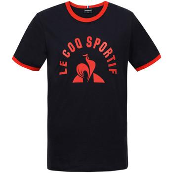 Textil Rapaz T-Shirt mangas curtas Le Coq Sportif Bat Tee SS N°4 Kids Azul