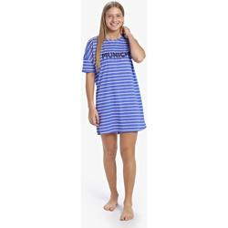 Textil Mulher Pijamas / Camisas de dormir Munich Camisón manga corta Casual Azul
