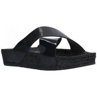Sapatos Mulher Chinelos Kelara K12033 Mujer Negro noir