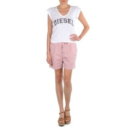 Textil Mulher Shorts / Bermudas Diesel HANTU Rosa