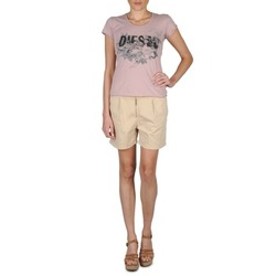 Textil Mulher Shorts / Bermudas Diesel HANTU Bege