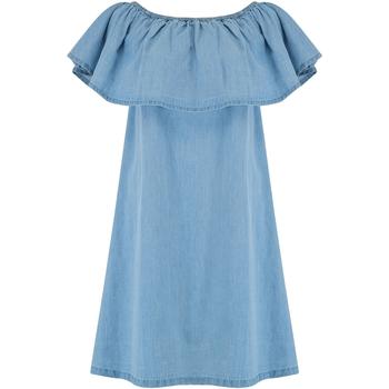 Textil Mulher Vestidos curtos Animal  Chambray Blue